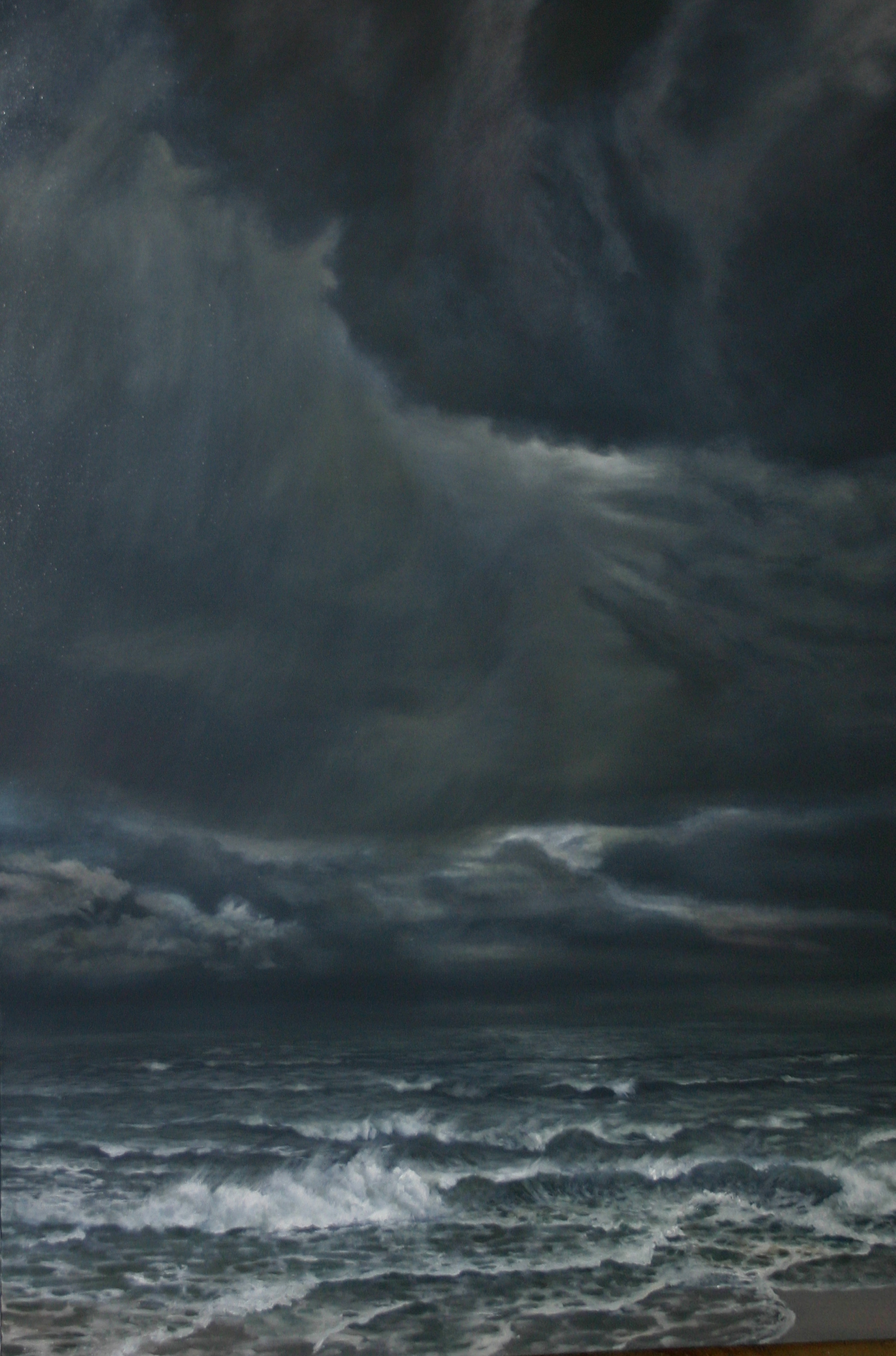 """Stormy Sunday"" 48x36 oil"