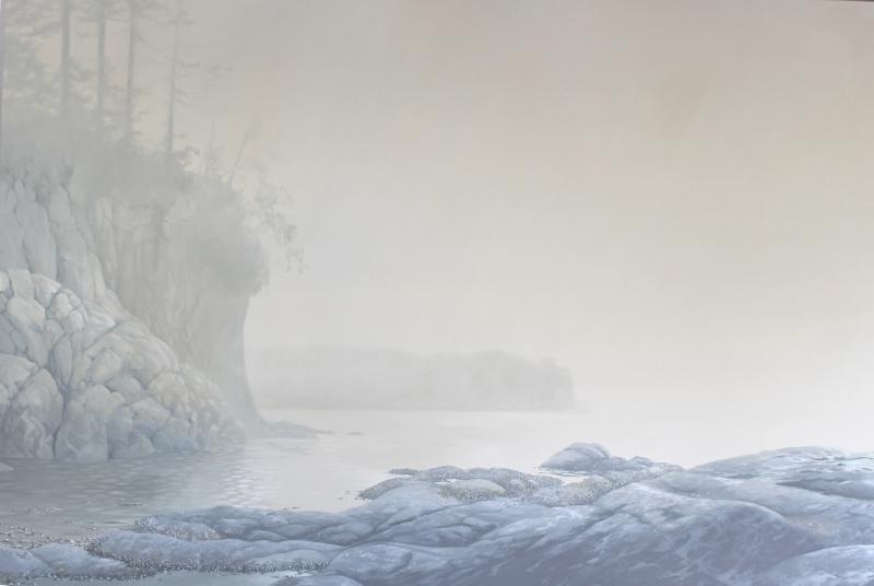 """""""Salt Creek Mist"""" 48x72 oil"""