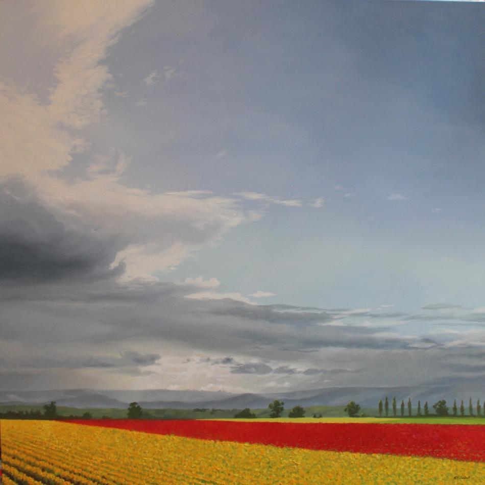 """Skagit Spring"" 36x36 oil"