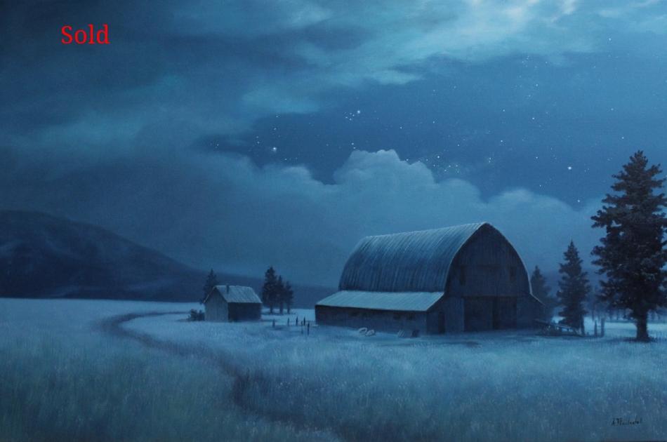 """""""Midnight Blue"""" 24x36 oil"""