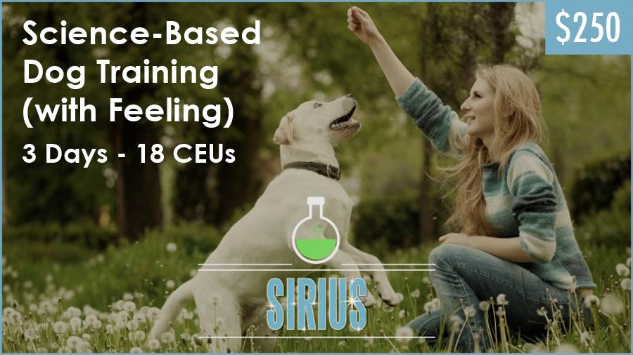 SIRIUS Dog Trainer Academy Online Dog Training Seminar