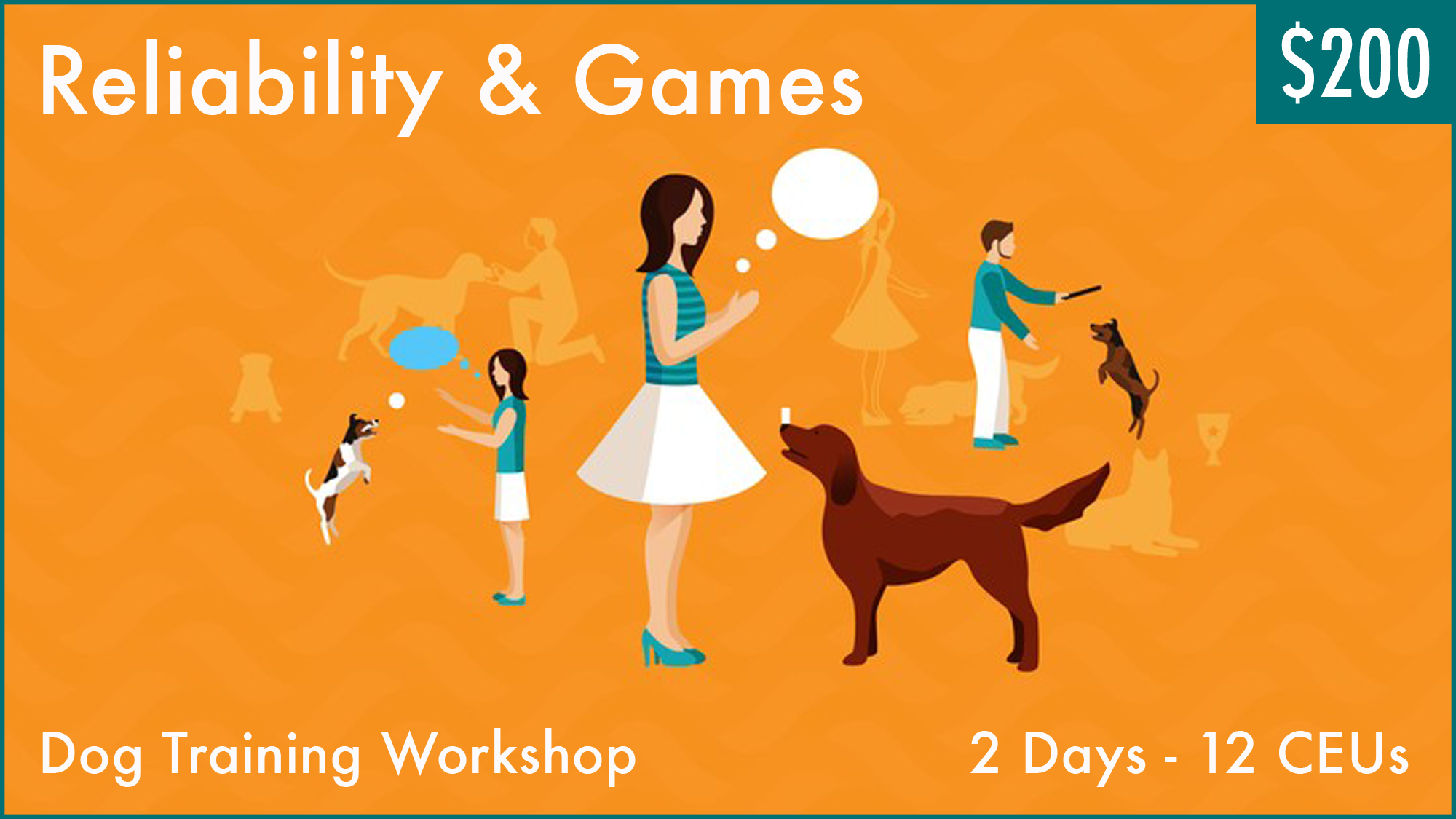 Dog training workshop by Dr. Ian Dunbar. Training games are great for motivating owners and dogs alike. Learn to harness games to achieve rock-solid reliability.