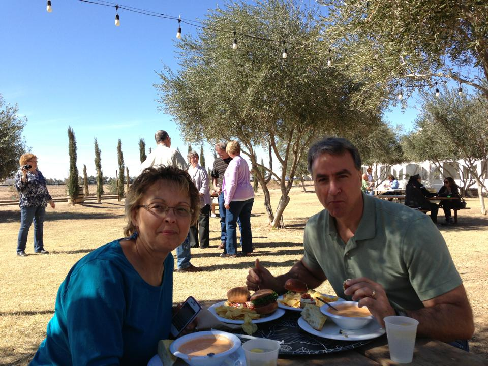 Tom and I at an olive farm in Arizona, February 2013