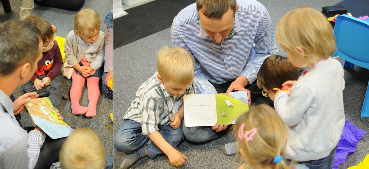 wujek piotrek czytał niezwykle interesującą historię o zaginionej owieczce. niektóre dzieci z przejęcia aż wstały