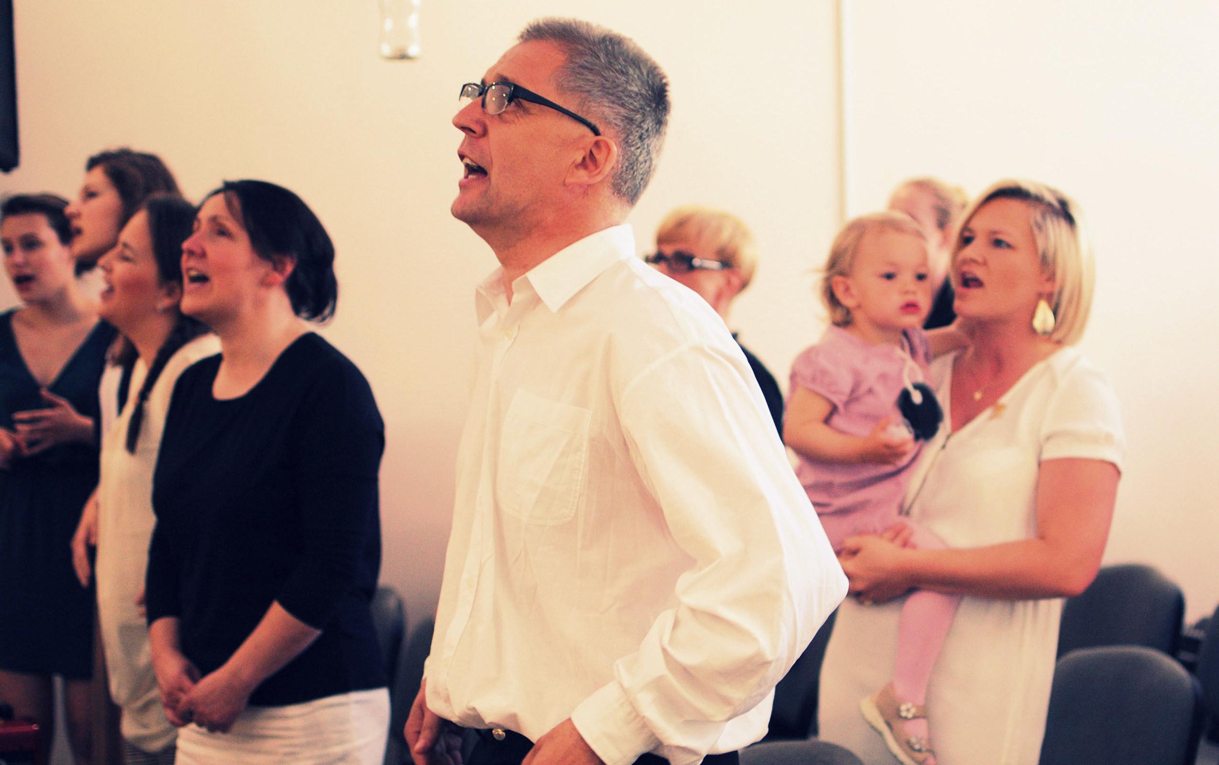 wspólny śpiew ku chwale naszego Pana i Zbawiciela
