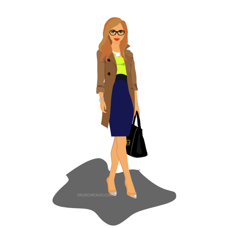 Trenchcoat Business Girl Illustration from LL-Creative.com