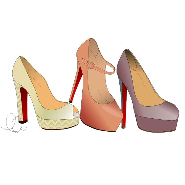 Shoe Stack Illustration from LL-Creative.com