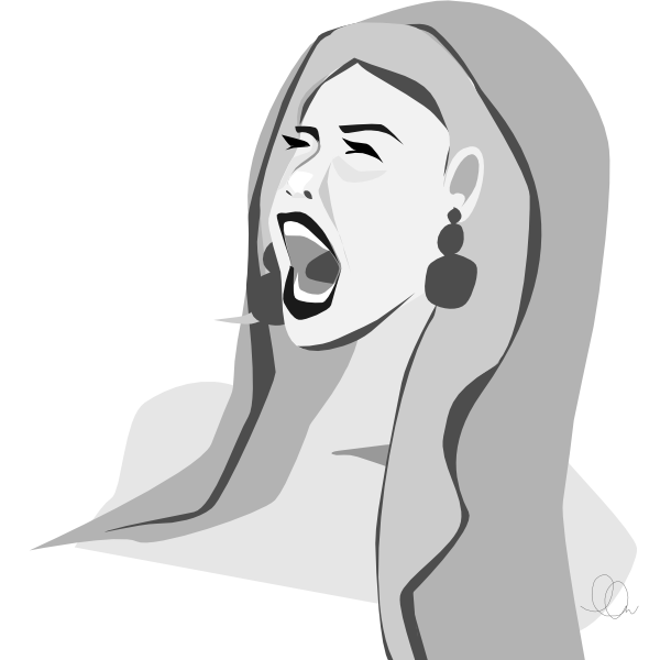 Screaming Illustration from LL-Creative.com
