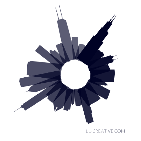 Chicago Circle Illustration from LL-Creative.com