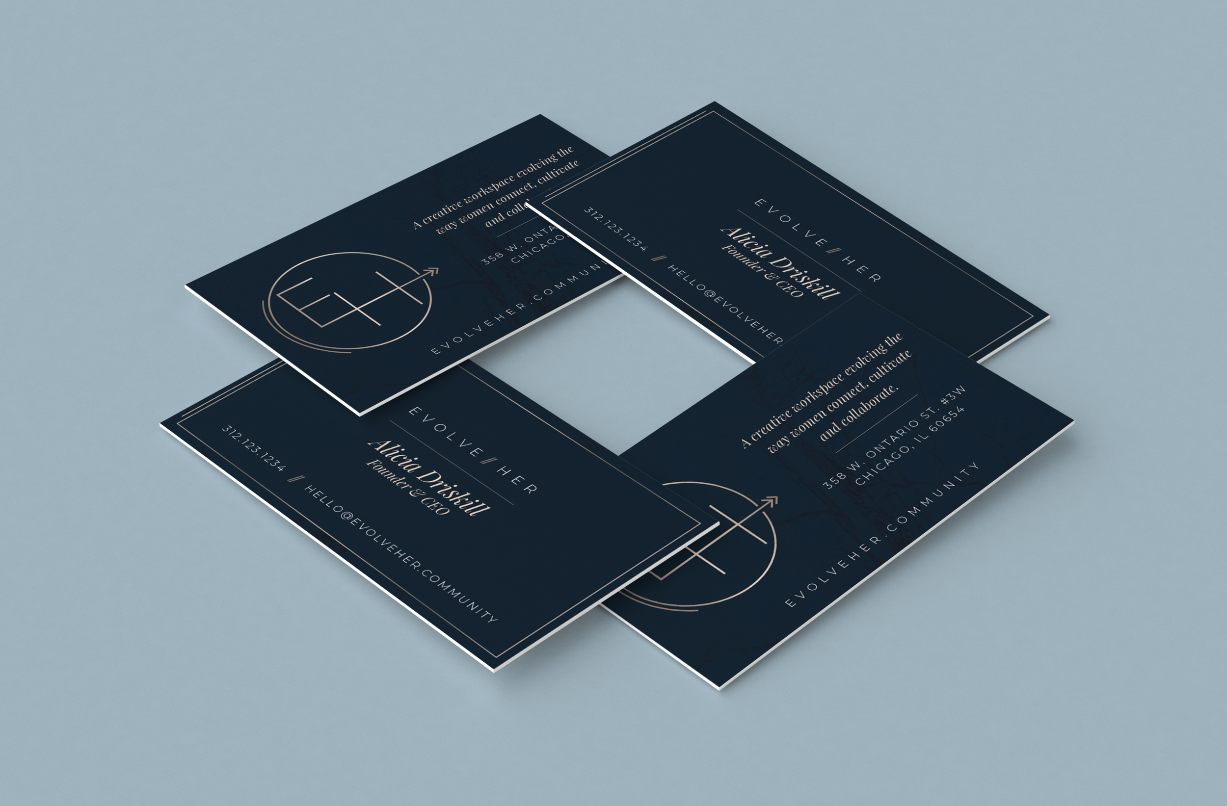 evolveHer - Business Cards