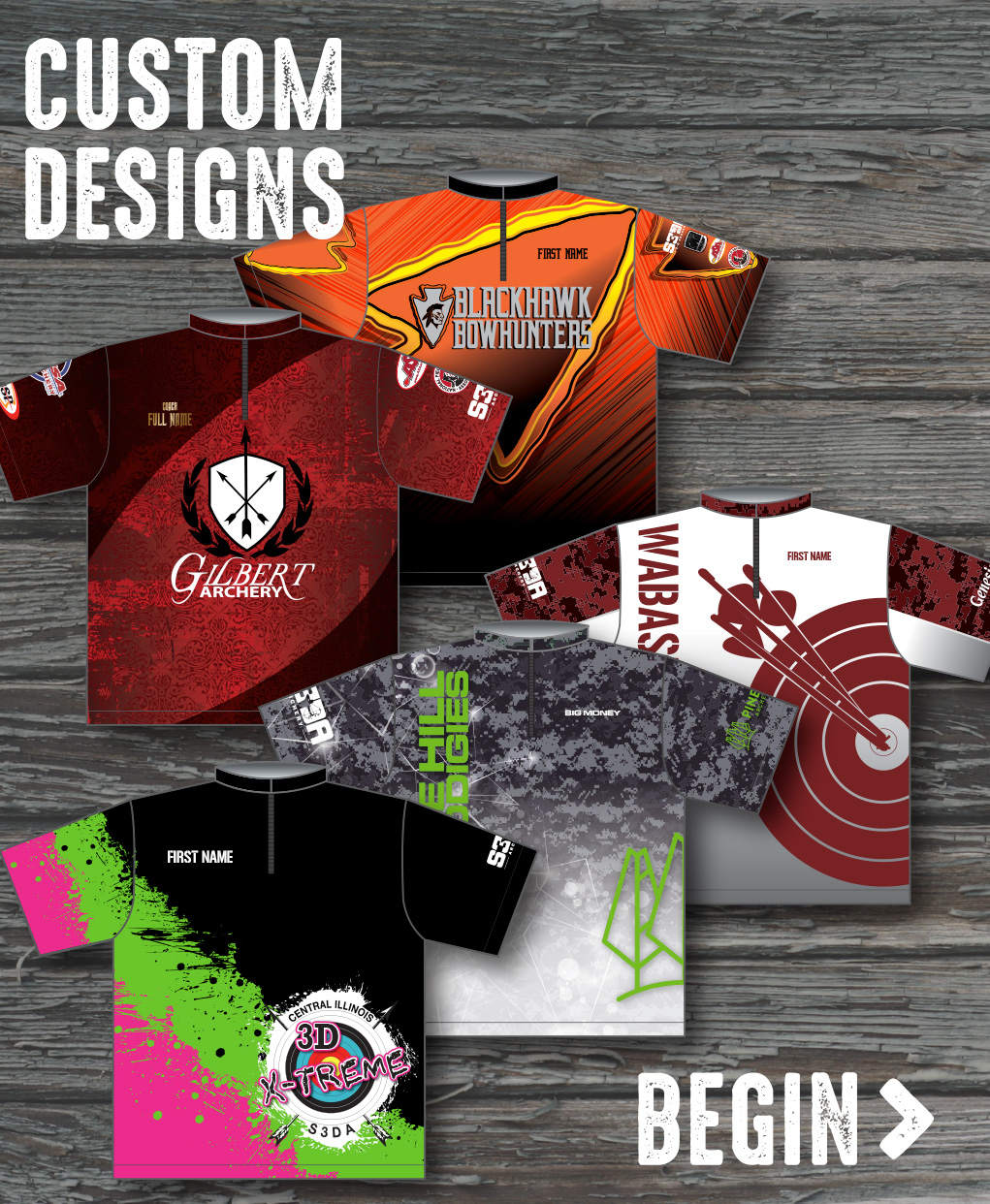 CUSTOM DESIGN METHOD: Request a completely custom design. We can bring your concept to life! Just describe what you're looking for and we'll quote you a setup fee based on the level of detail and time involved.  Begin