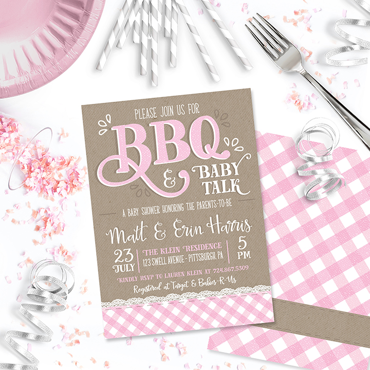 One Swell Studio BBQ Baby Talk Invitation