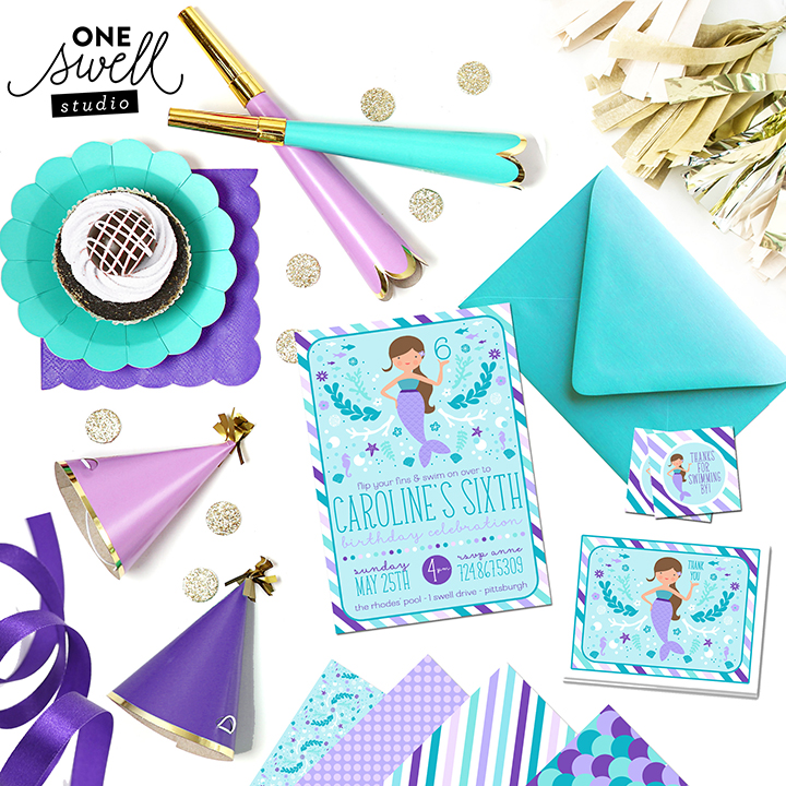 One Swell Studio Mermaid Invitation