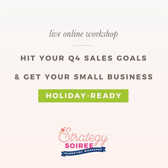 Girl do you need to get your business holiday ready? 🎄  Then you can't miss out on this live workshop happening on Monday @ 12pm CST. Creating a step-by-step plan for the rest of 2019, content+email ideas, and ways to stand out among the crowd...plus SO much more that you won't want to miss! To save your seat, click the link in bio. Let's get holiday ready together, girlfriend! 🎄 #sweetlifesisterhood #bloomingbusiness #strategysoiree #mompreneur #entrepreneur