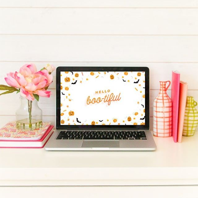 A sweet new wallpaper just for you! Halloween treats + sweets to remind you just how boo-tiful you are 👻🎃 To download yours:  https://amberhousley.com/hello-boo-tiful-wallpaper/ • #bloomingbusiness #sweetlifesisterhood #mompreneur #entrepreneur #halloween #wallpaper