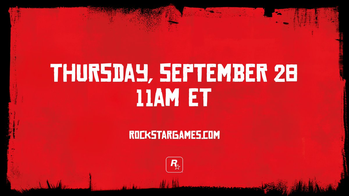 Red Dead Redemption 2 Announcement Coming Next Week - http://www.ign.com/articles/2017/09/22/red-dead-redemption-2-announcement-coming-next-week