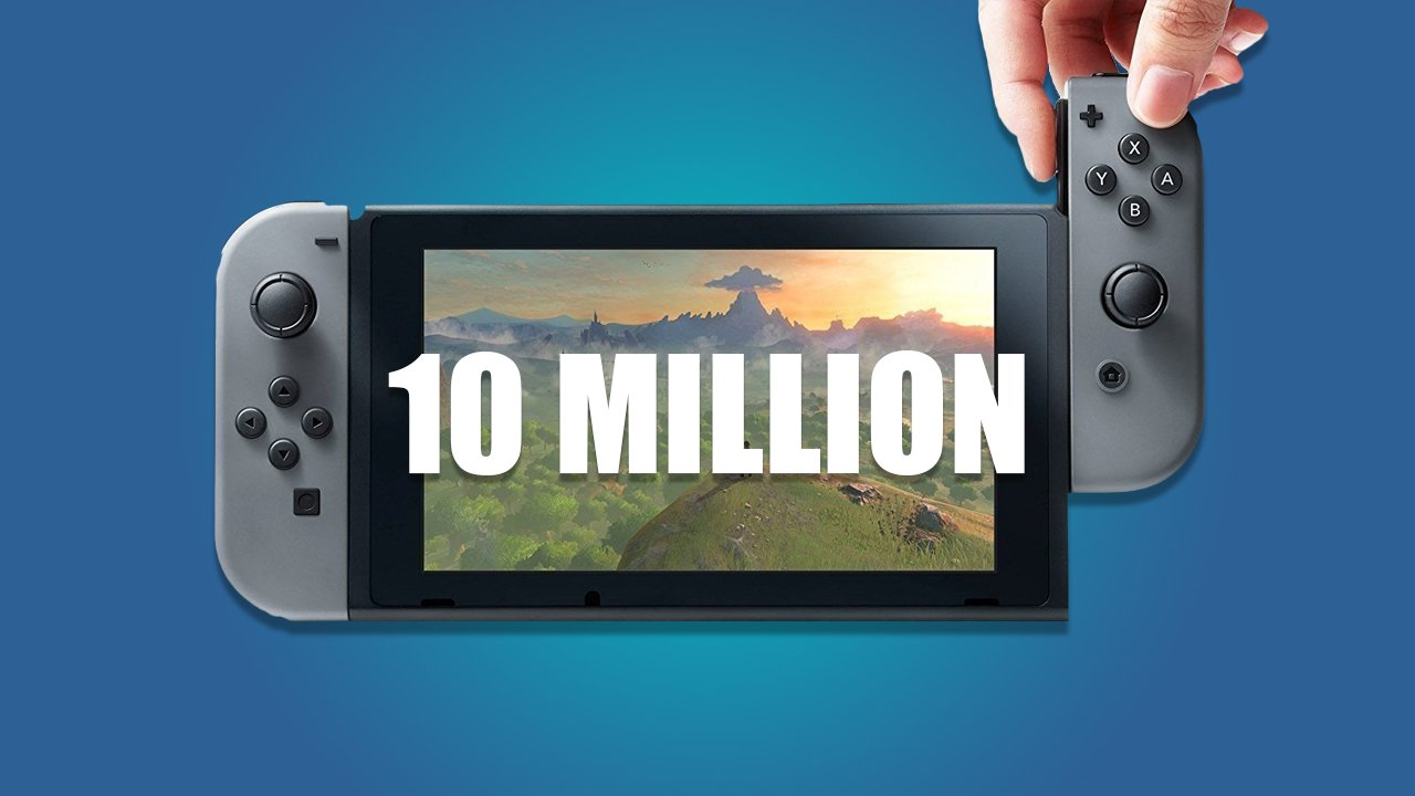 Nintendo Switch Tops 10 Million Units Sold - http://www.ign.com/articles/2017/12/12/nintendo-switch-tops-10-million-units-sold