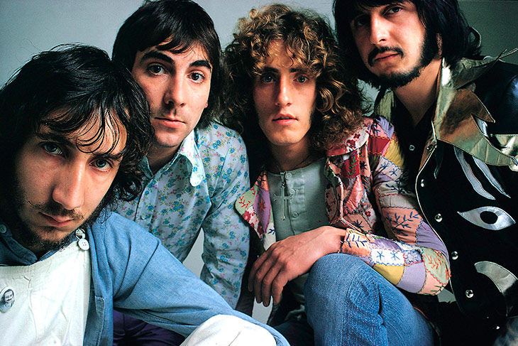 From left to right: Pete Townshend (Guitar, Keyboards, Synthesizers, Songwriter), Keith Moon (Drums), Roger Daltrey (Vocals), John Entwistle (Bass)