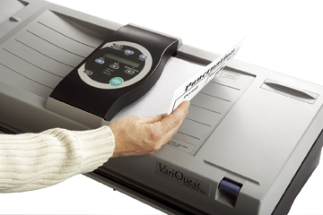 Insert document into scanner