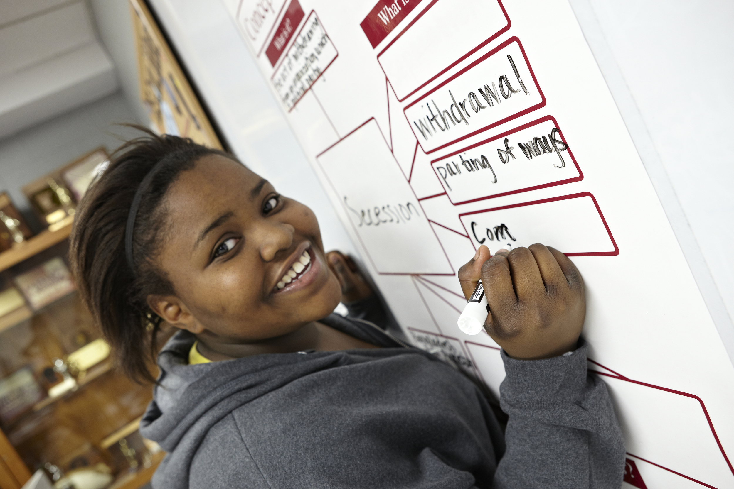 Laminate posters for reuse with dry-erase markers