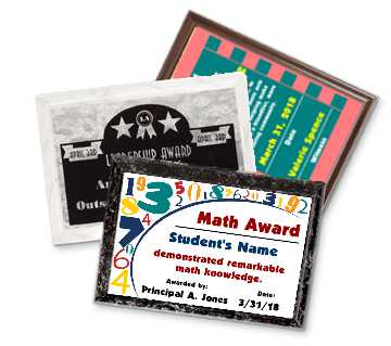 Start a student recognition program at your school. Adhere the Motiva sticker output to a variety of backers (wood, plastic and card stock)  Perfect for Graduation!