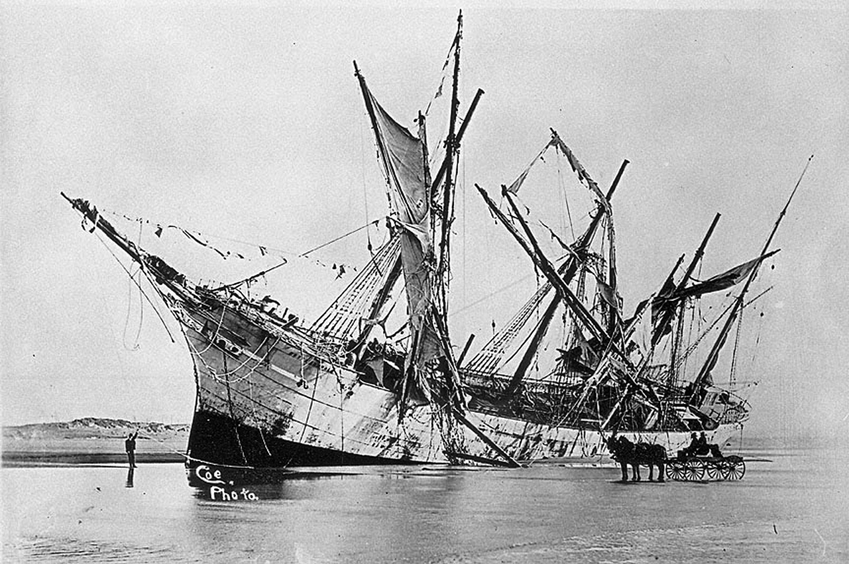 Apologies to the good ship Peter Iredale...