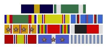 Edwin T. Layton, Rear Admiral, United States Navy Ribbon Bar