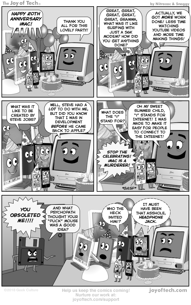 Via   the Comic Mages -   Nitrozac   and    Snaggy    at    The Joy of Tech®!