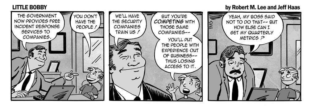 via   the Security Mindset of   Robert M. Lee   and Illustration talents of   Jeff Hass   at   Little Bobby   Comics