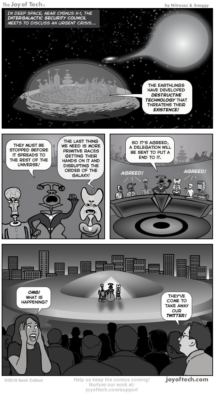 via   the Comic Wonders    Nitrozac   and    Snaggy    at    The Joy of Tech®!
