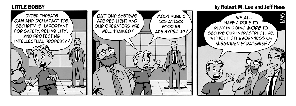 via   the respected information security capabilities of   Robert M. Lee   & the superb illustration talents of   Jeff Hass   at   Little Bobby Comics.