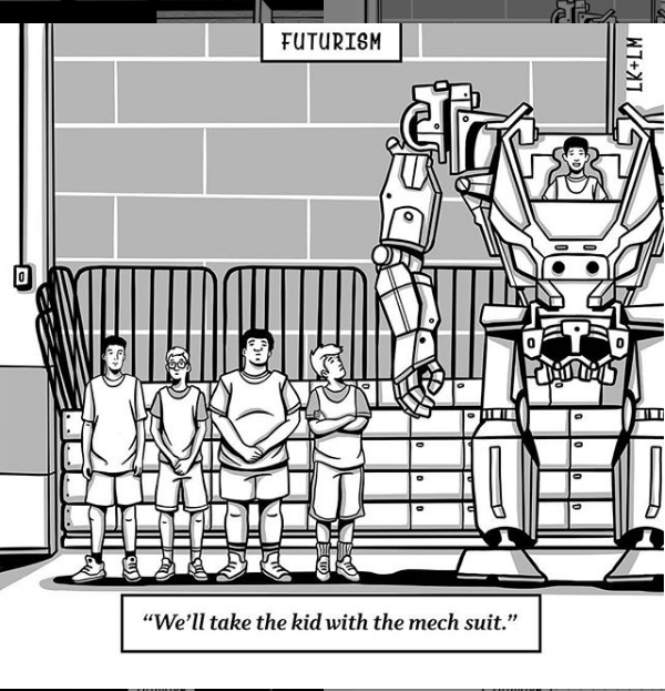 Futurism Cartoon - Kid With Mech Suit.png
