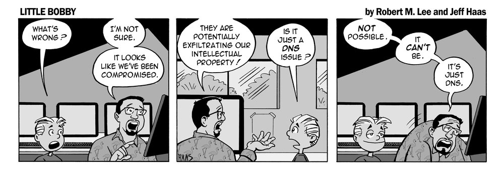 via  the respected information security capabilities of  Robert M. Lee  & the superb illustration talents of  Jeff Hass  at  Little Bobby Comics .