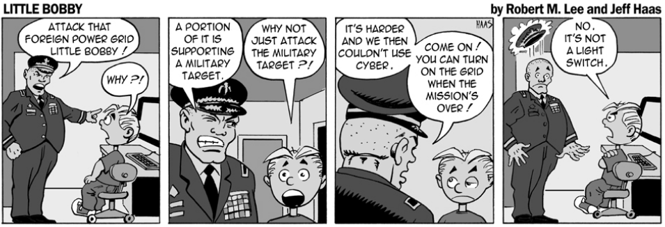 via    the respected information security capabilities of   Robert M. Lee     & the superlative illustration talents of   Jeff Hass   at   Little Bobby Comics  .