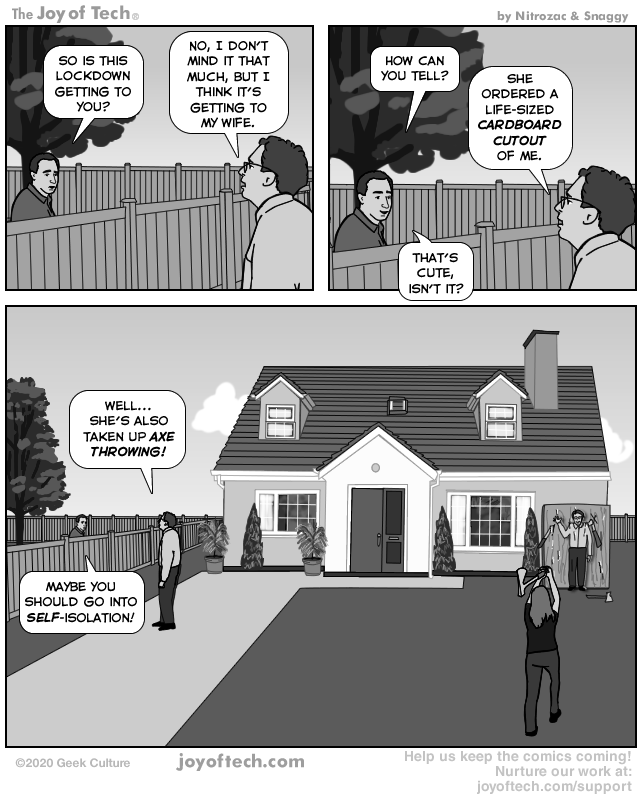 via  the Comic Noggins of   Nitrozac   and   Snaggy   at   The Joy of Tech®   'Stupidity Repeats Itself!'