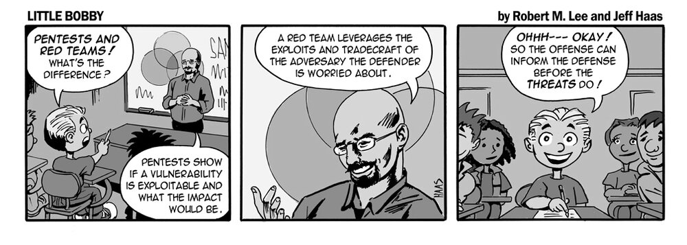 via    the respected information security capabilities of   Robert M. Lee     & the superlative illustration talents of   Jeff Haas   at   Little Bobby Comics  .