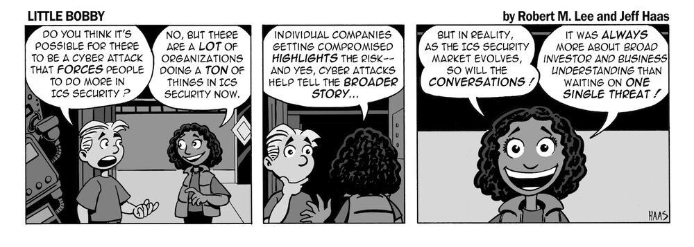 via     the respected information security capabilities of   Robert M. Lee     & the superlative illustration talents of   Jeff Haas   at   Little Bobby Comics  !
