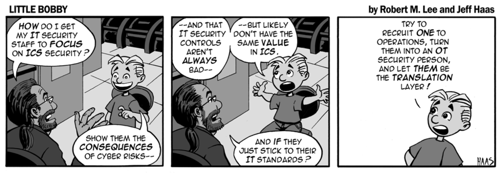 via   the respected information security capabilities of   Robert M. Lee     & the superlative illustration talents of   Jeff Haas   at   Little Bobby Comics