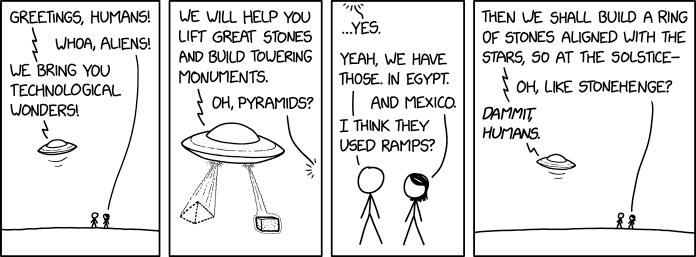 XKCD 'Alien Visitors'