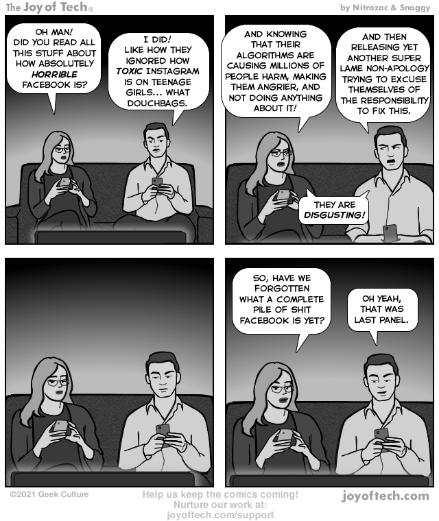 via the Comic Noggins of Nitrozac and Snaggy at The Joy of Tech®!