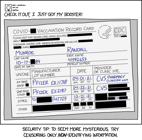 XKCD 'Censored Vaccine Card'