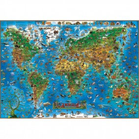 Gifts for Tree-Hugging Kiddos - Animal Map of the World