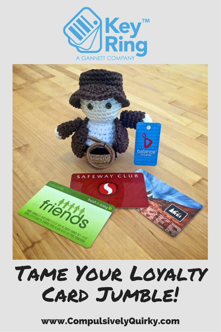 Key Ring: Tame Your Loyalty Card Jumble! ~ www.CompulsivelyQuirky.com