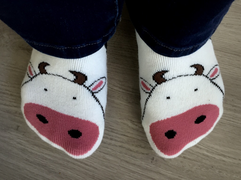 Cow K. Bell Comfy Socks