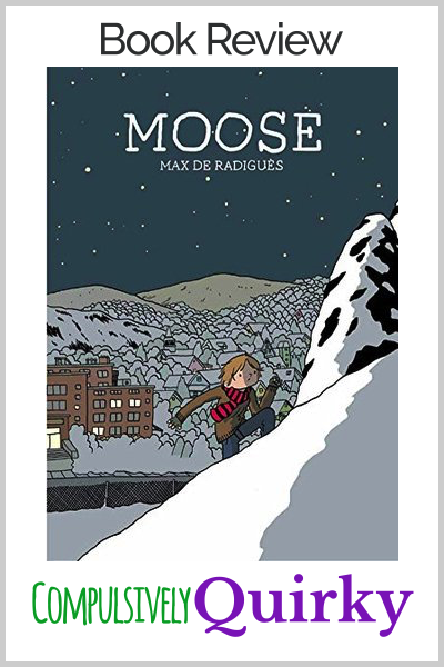 Moose by Max de Radigues ~ book review of this sombre, but striking graphic novel about bullying
