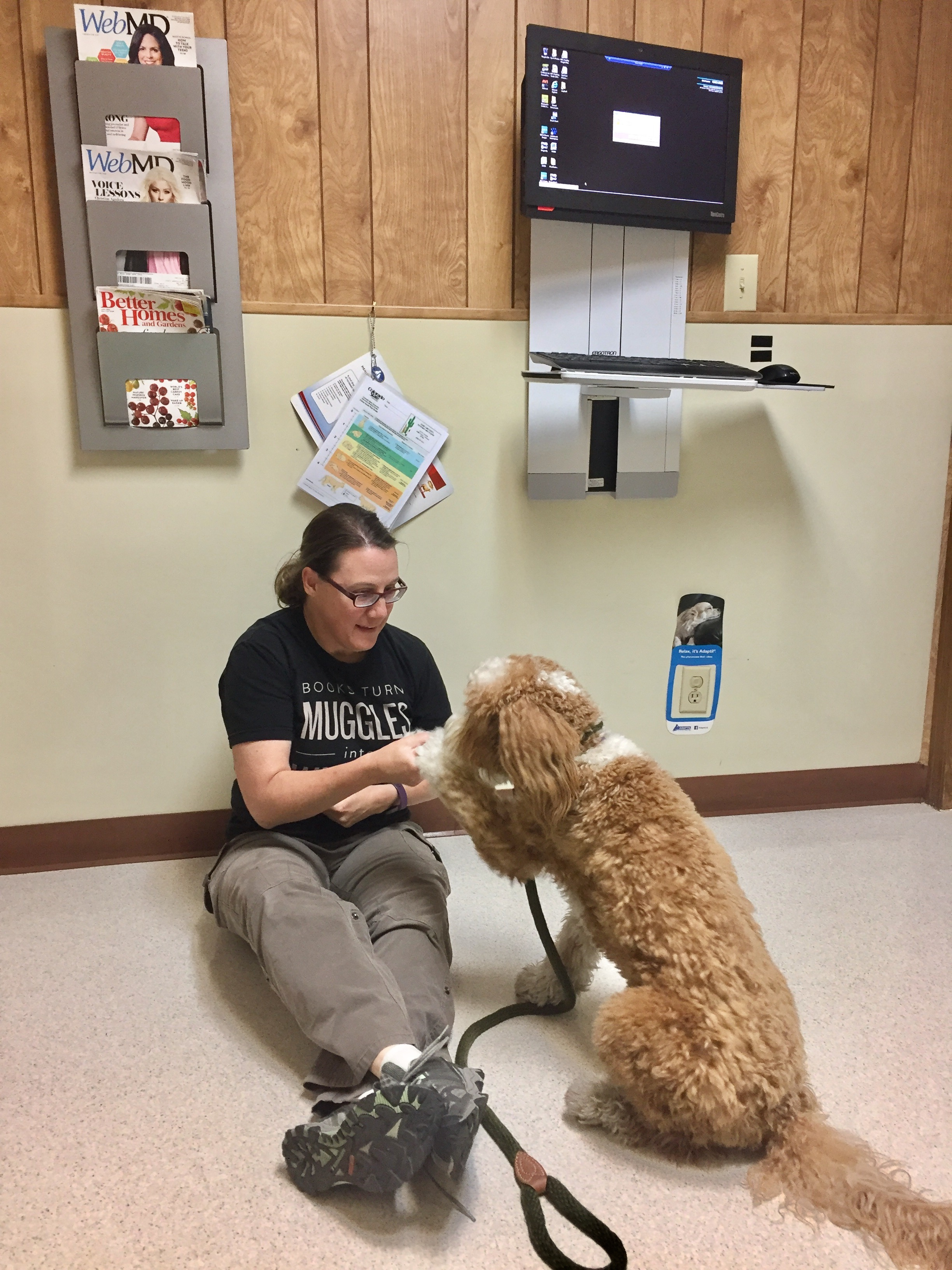 Bernie Greeting at Vet