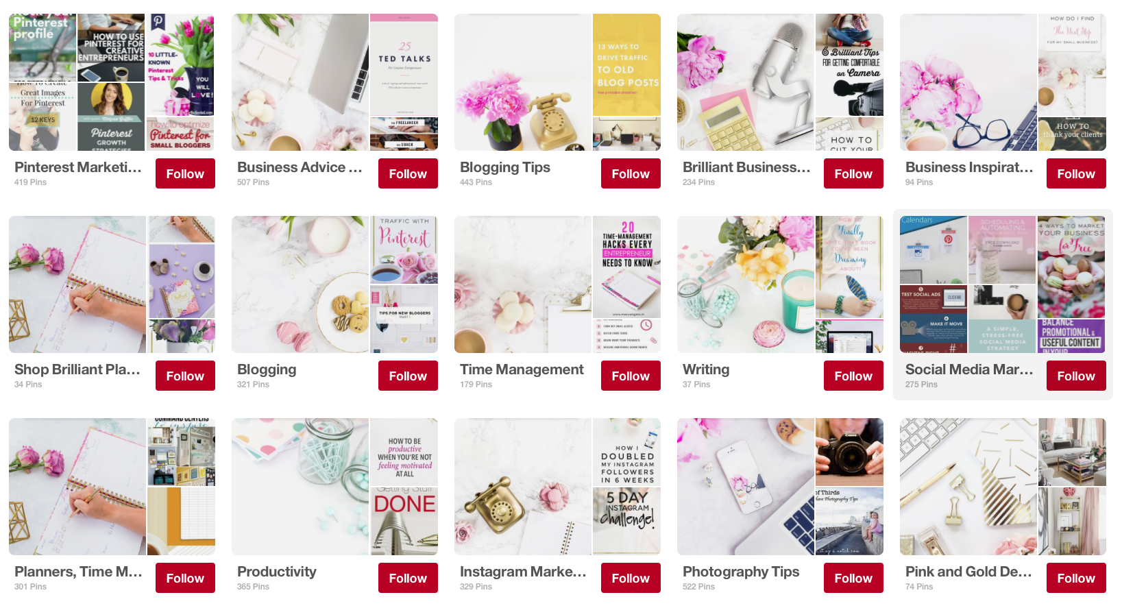 Custom board covers over at the Brilliant Business Moms website.