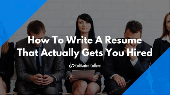 Cultivated Culture Advanced Resume Writing Tips -
