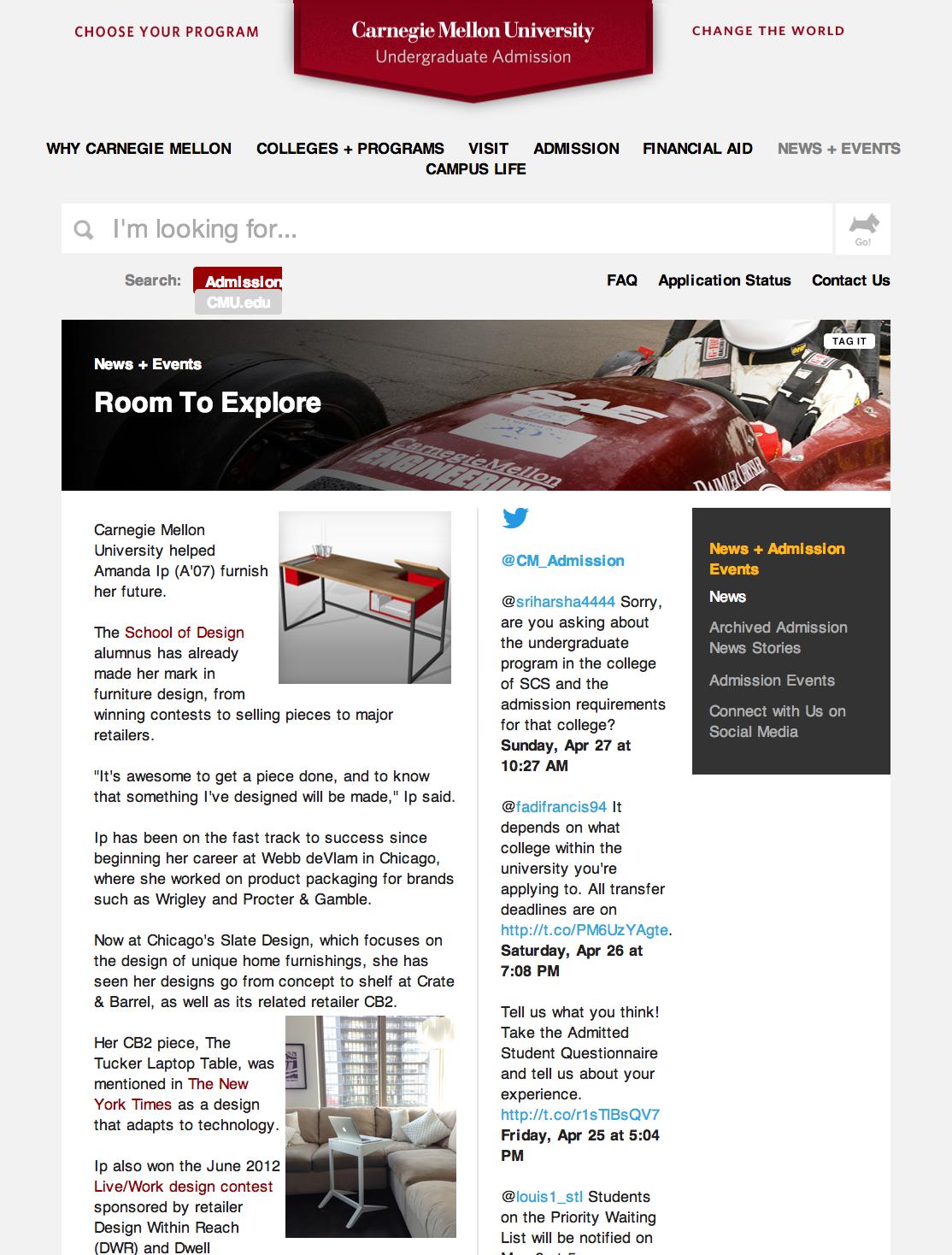 Carnegie Mellon University: Room to Explore