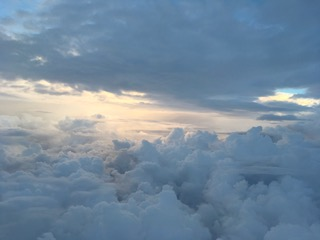 This was a magical moment, taken from the airplane window. We live in magical times!